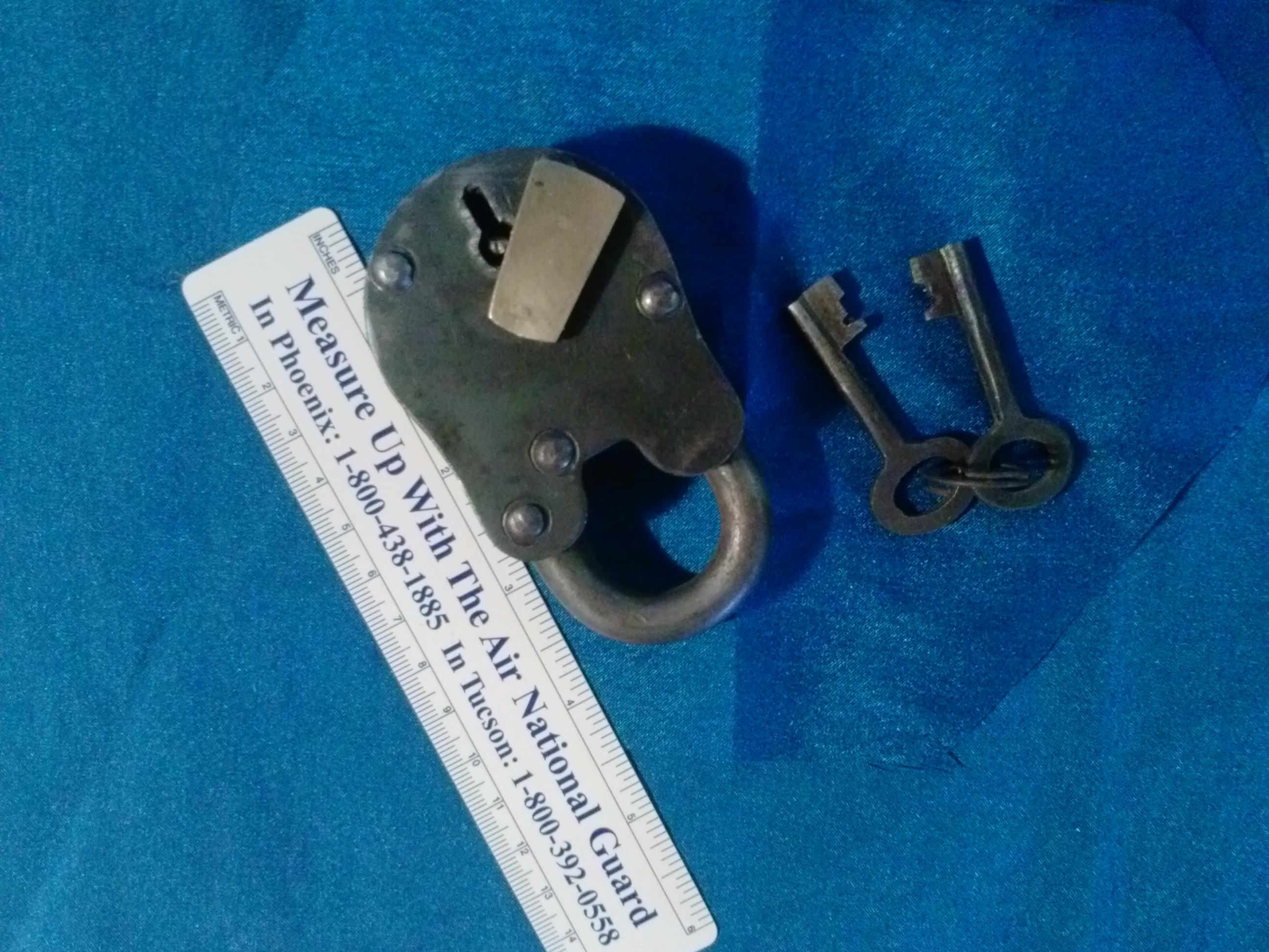 Large Padlock with Key